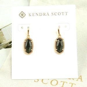 Kendra Scott Lee earrings black granite rose gold